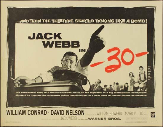 30 [ Deadline Midnight ] US Half Sheet movie poster
