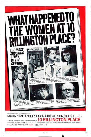10 Rillington Place US One Sheet movie poster