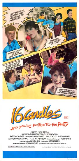 Sixteen Candles [ 16 Candles ] Australian Daybill movie poster