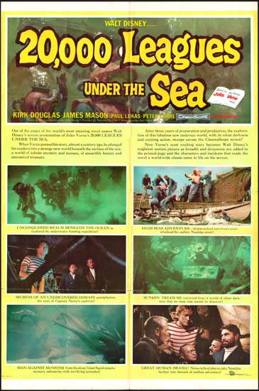 20000 Leagues Under the Sea US One Sheet style B movie poster