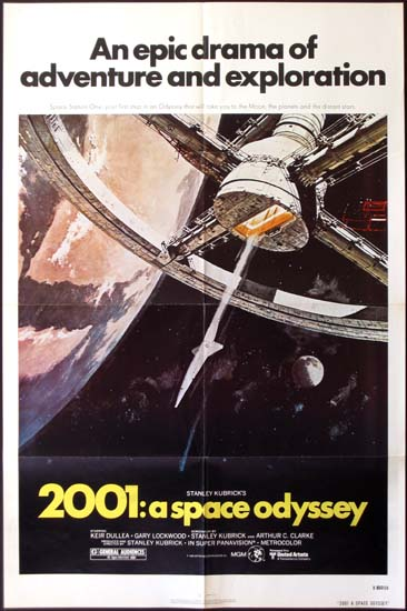 2001 A Space Odyssey US One Sheet movie poster