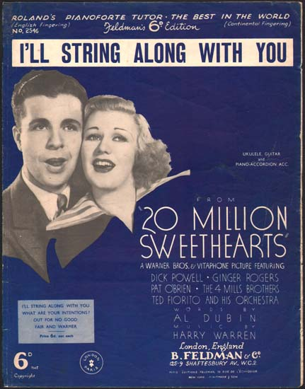 Twenty Million Sweethearts [ 20 Million Sweethearts ] UK Sheet Music