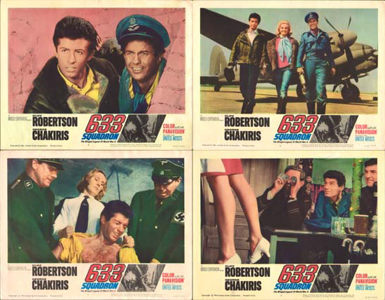 633 Squadron US Lobby Card Set of 8