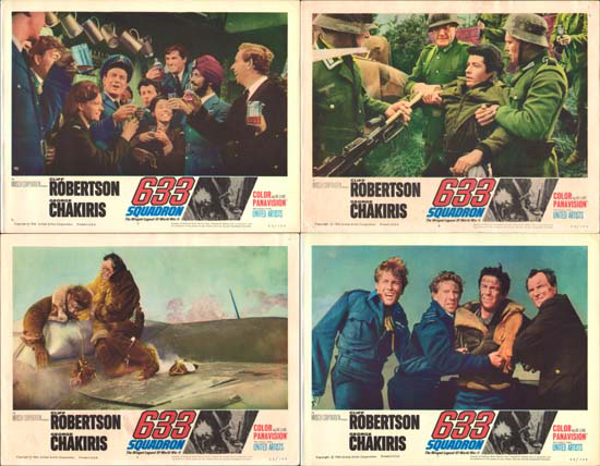 Image 2 of 633 Squadron US Lobby Card Set of 8
