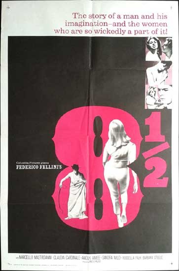 8 1/2 [ Otto e Mezzo ] US One Sheet international movie poster