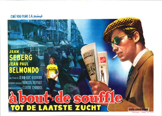 A Bout de Souffle [ Breathless ] Belgian movie poster