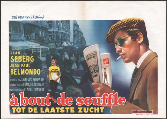 A Bout de Souffle [ Breathless ] Belgian movie poster