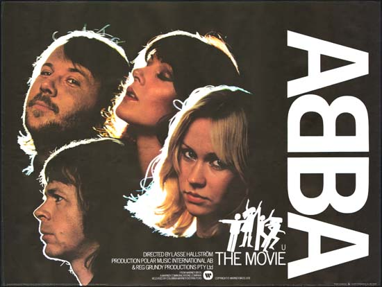 ABBA The Movie UK Quad movie poster