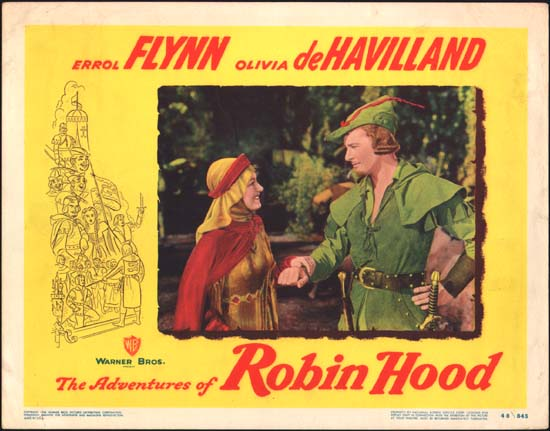 Adventures of Robin Hood, The US Lobby Card number 3