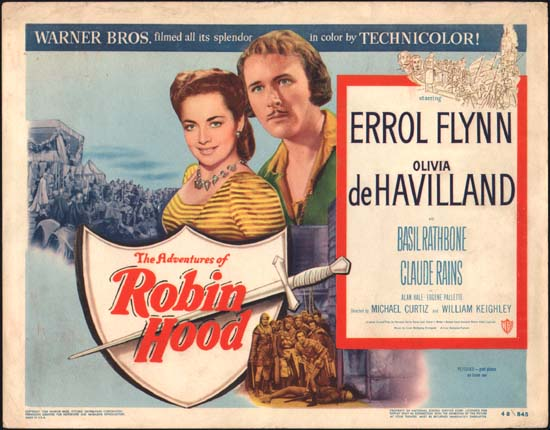 Adventures of Robin Hood, The US Title Lobby Card