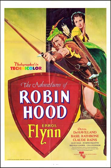 Adventures of Robin Hood, The US One Sheet movie poster