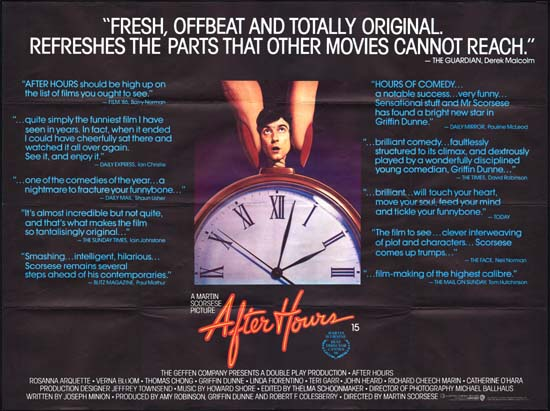 After Hours UK Quad movie poster