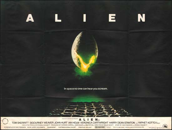 Alien UK Quad movie poster