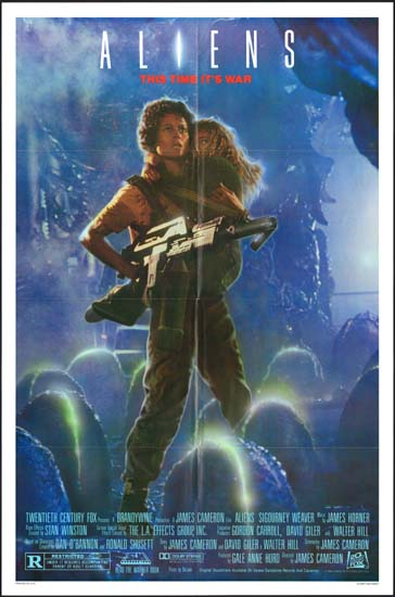 Aliens US One Sheet eggfield style movie poster