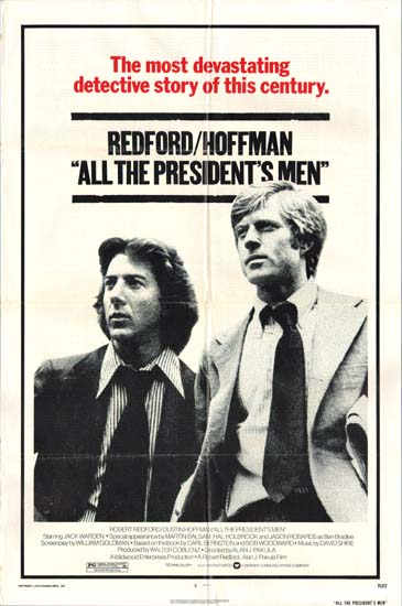 All The Presidents Men US One Sheet movie poster