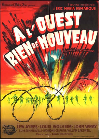 All Quiet on the Western Front French movie poster