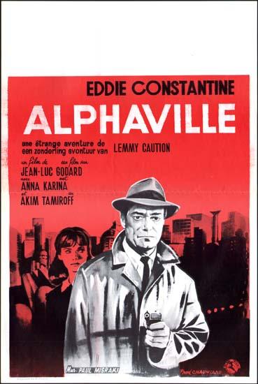 Alphaville Belgian movie poster