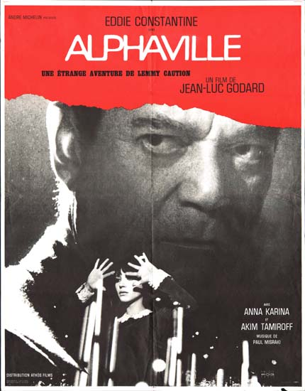 Alphaville French movie poster