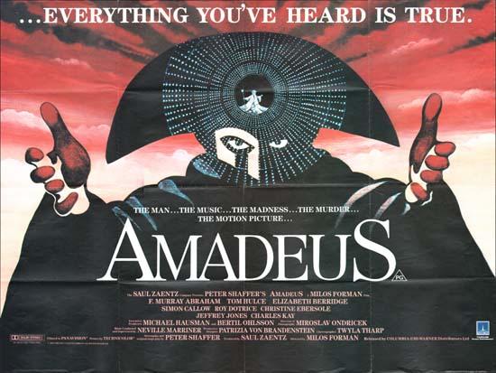 Amadeus UK Quad pre-Oscar movie poster