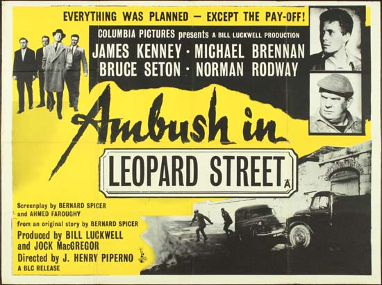 Ambush in Leopard Street UK Quad movie poster