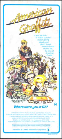 American Graffiti Australian Daybill movie poster