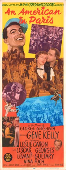 American in Paris, An US Insert movie poster