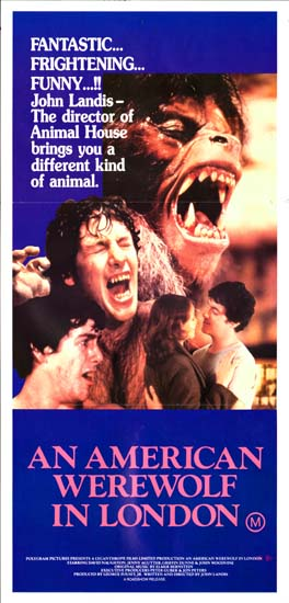 American Werewolf in London, An Australian Daybill movie poster