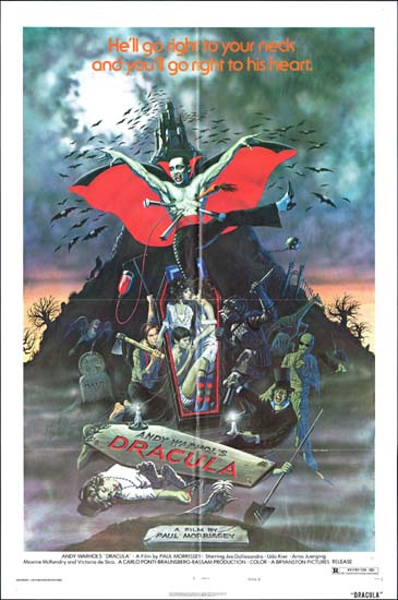 Dracula, Andy Warhols [ Blood for Dracula ] US One Sheet style B movie poster