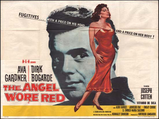 Angel Wore Red, The UK Quad movie poster