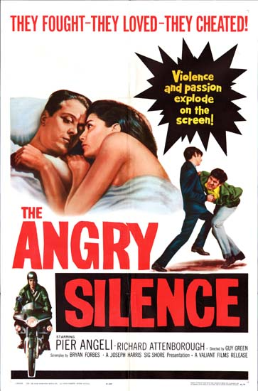 Angry Silence, The US One Sheet movie poster