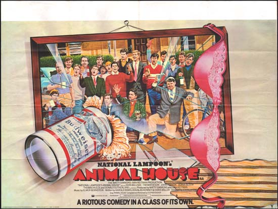 Animal House, National Lampoons UK Quad movie poster