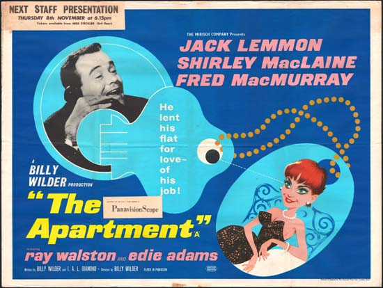 Apartment, The UK Quad movie poster