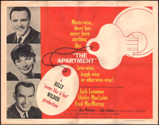 Apartment, The US Half Sheet style A movie poster