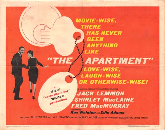 Apartment, The US Half Sheet style B movie poster