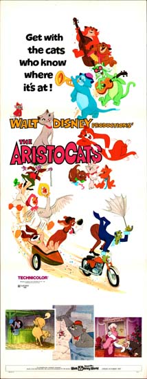 Aristocats, The US Insert movie poster