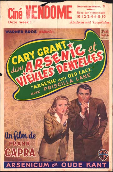 Arsenic and Old Lace Belgian movie poster