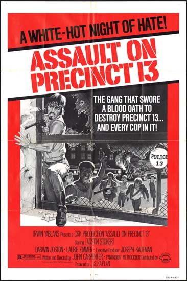 Assault on Precinct 13 US One Sheet movie poster