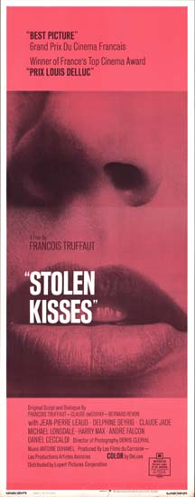 Baisers Voles [ Stolen Kisses ] US Insert movie poster