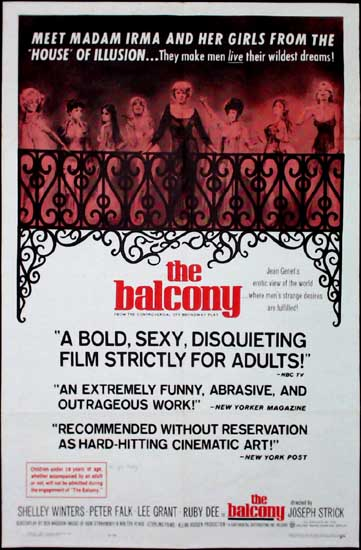 Balcony, The US One Sheet movie poster