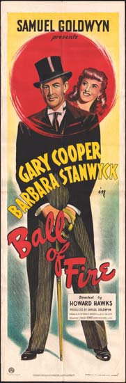 Ball of Fire UK Quad movie poster