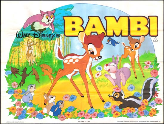Bambi UK Quad movie poster