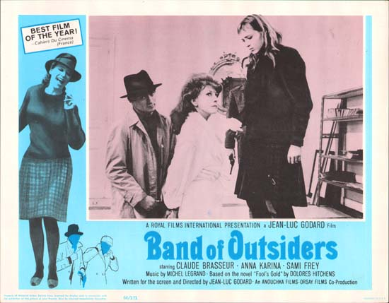 Bande a Part [ Band of Outsiders ] US Lobby Card a