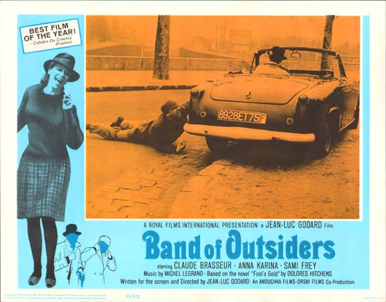 Bande a Part [ Band of Outsiders ] US Lobby Card b