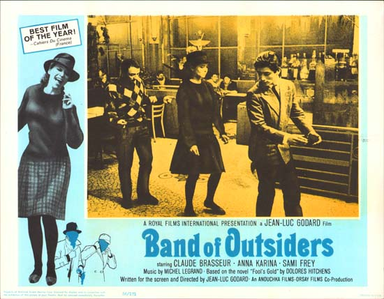 Bande a Part [ Band of Outsiders ] US Lobby Card c