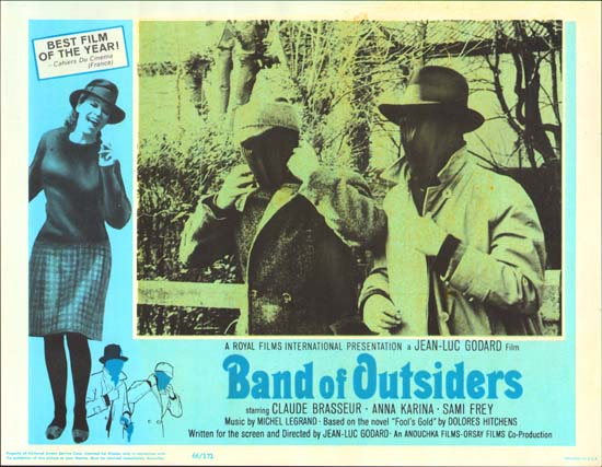 Bande a Part [ Band of Outsiders ] US Lobby Card f