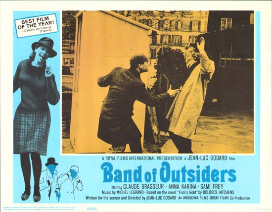 Bande a Part [ Band of Outsiders ] US Lobby Card h