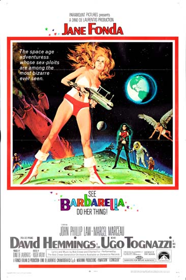 Barbarella US One Sheet movie poster