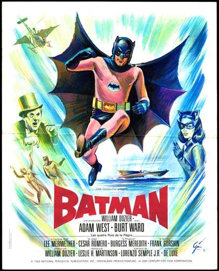 Batman The Movie French Petite movie poster