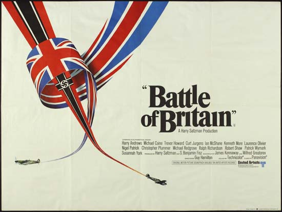 Battle of Britain UK Quad movie poster