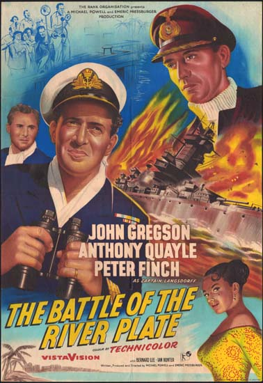Battle of the River Plate [ Pursuit of the Graf Spee ] UK One Sheet movie poster